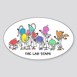 The Lab Staph Sticker (Oval)