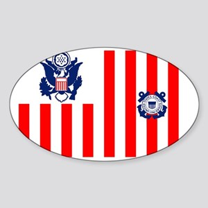 5-USCG-Flag-Ensign-Full-Color Sticker (Oval)