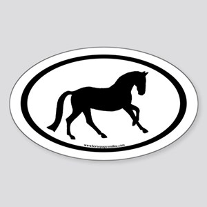 Canter Horse Oval Oval Sticker