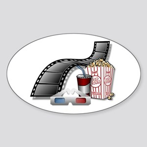 Cool 3D Movie Cinema Sticker