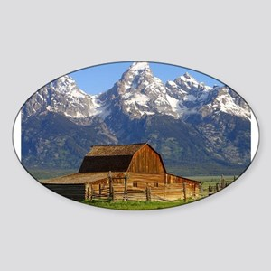 Grand Tetons Naional Park Sticker (Oval)