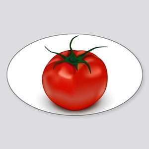 Red Tomato ! Oval Sticker