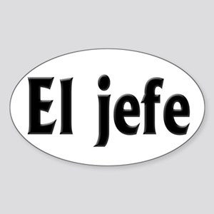 El jefe (The Boss) Sticker (Oval)