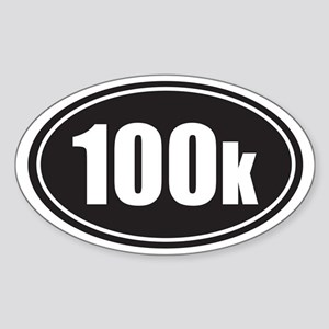 100k black oval Sticker (Oval)