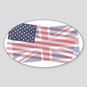 UK/US blended Sticker (Oval)
