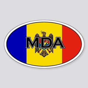 Moldovan sticker Oval Sticker