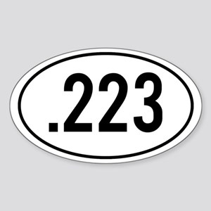 223 Decal Sticker (Oval)