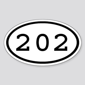 202 Oval Oval Sticker