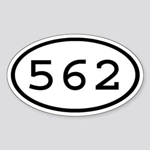 562 Oval Oval Sticker