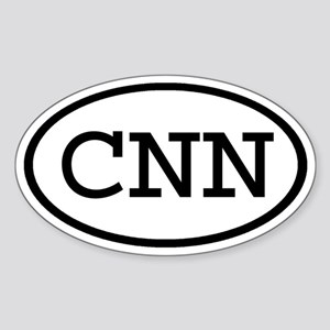 CNN Oval Oval Sticker