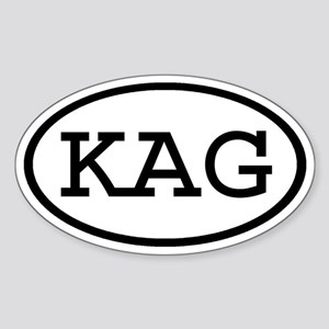 KAG Oval Oval Sticker