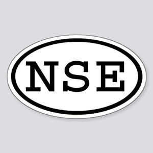 NSE Oval Oval Sticker