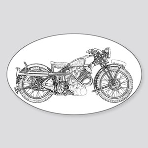 1935 Motorcycle Sticker (Oval)