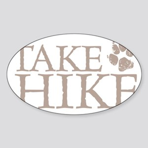 Hiking with Dogs Sticker (Oval)