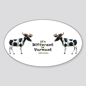 Vermont Moose Oval Sticker