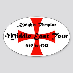 Knights Templar world Tour Sticker (Oval)