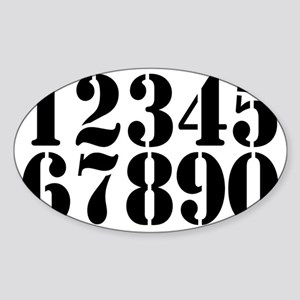 race-numbers-1-0 Sticker (Oval)