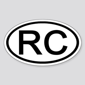 RC - Initial Oval Oval Sticker