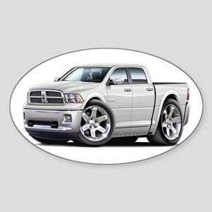 Ram White Dual Cab Sticker (Oval)