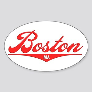 Boston MA Oval Sticker