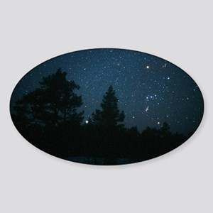 Starfield including Orion, Sirius Sticker (Oval)