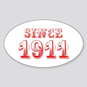SINCE 1911-Bod red 300 Sticker