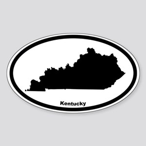 Kentucky State Outline Oval Sticker
