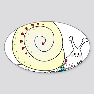 Colorful Cute Snail Sticker (Oval)