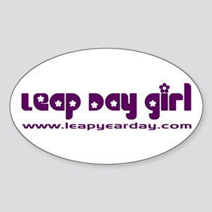 Leap Day Girl Oval Sticker