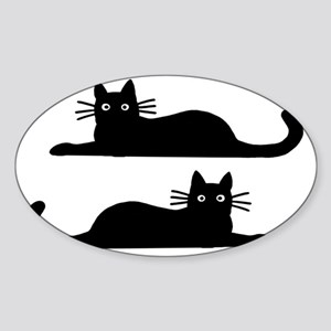catsrectanglesticker Sticker (Oval)