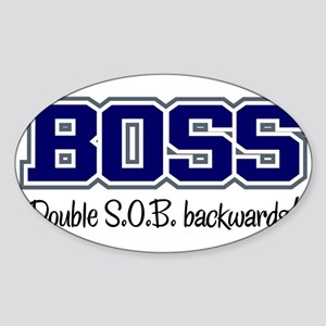 Boss - Double S.O.B. Oval Sticker