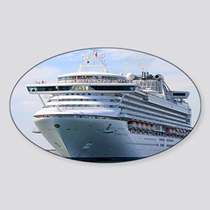 Cruise ship 13 Sticker (Oval)