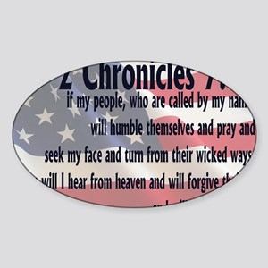 2chronicles 714 Sticker (Oval)
