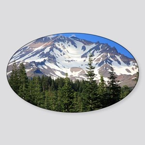 Mount Shasta 11 Sticker (Oval)