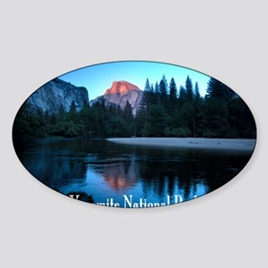 Half Dome sunset in Yosemite Nation Sticker (Oval)