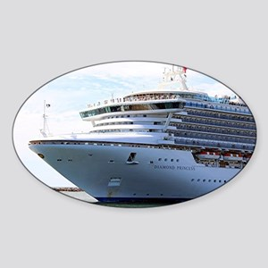 Cruise ship 15 Sticker (Oval)