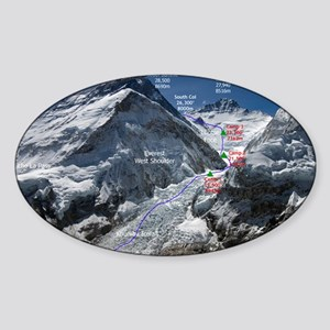 Mt. Everest Southeast Ridge Route M Sticker (Oval)