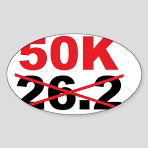 Beyond the Marathon - 50 Kilometer  Sticker (Oval)