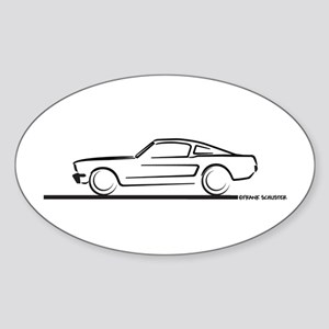 1964 65 66 Mustang Fastback Sticker (Oval)