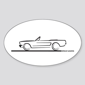 1966 Mustang Convertible Sticker (Oval)