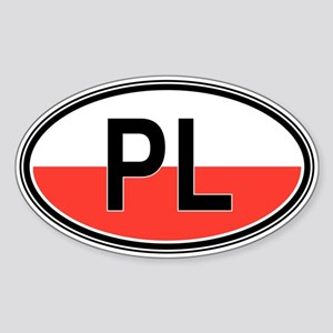 Poland Euro Oval Sticker