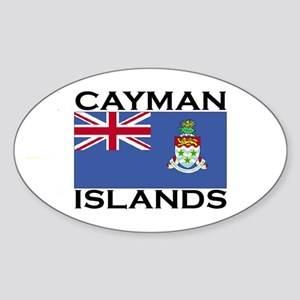 Cayman Islands Flag Oval Sticker
