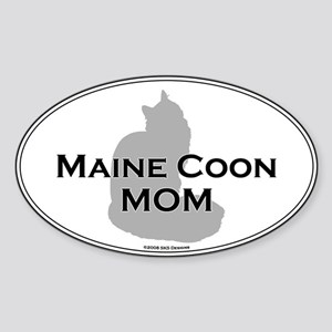 Maine Coon Mom Oval Sticker