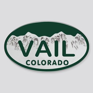 Vail Colo License Plate Sticker (Oval)