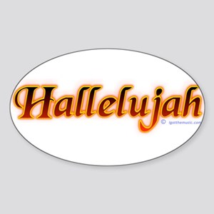 Hallelujah Oval Sticker