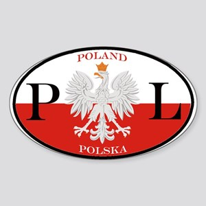 Polish Polska Oval Sticker