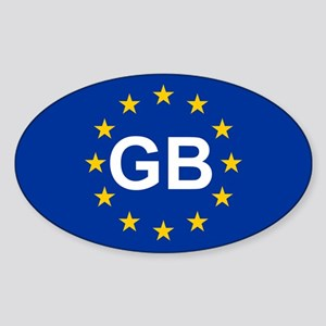 EU UK Sticker (Oval)