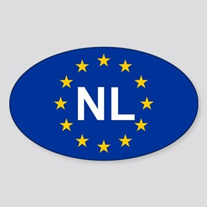 EU Netherlands Sticker (Oval)