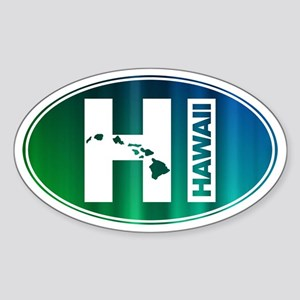 HI Hawaii - Sticker (Oval)