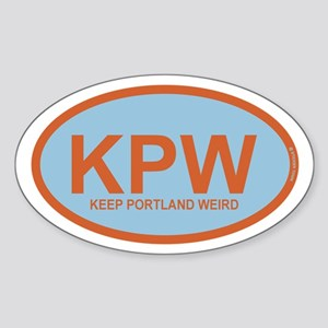 Kpw - Keep Portland Weird Sticker (oval)